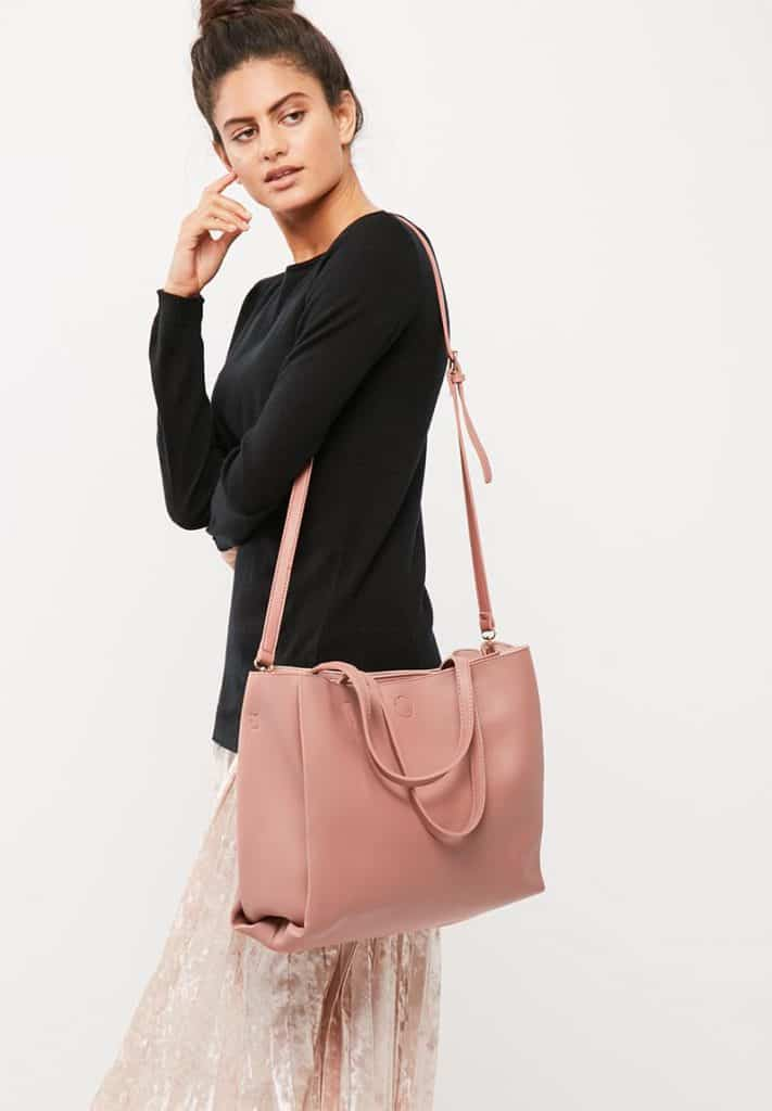 Milla Tote Bag in Pink