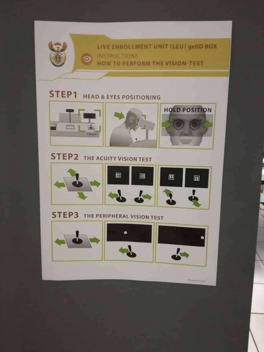 Live testing Unit (eye test inside traffic department)