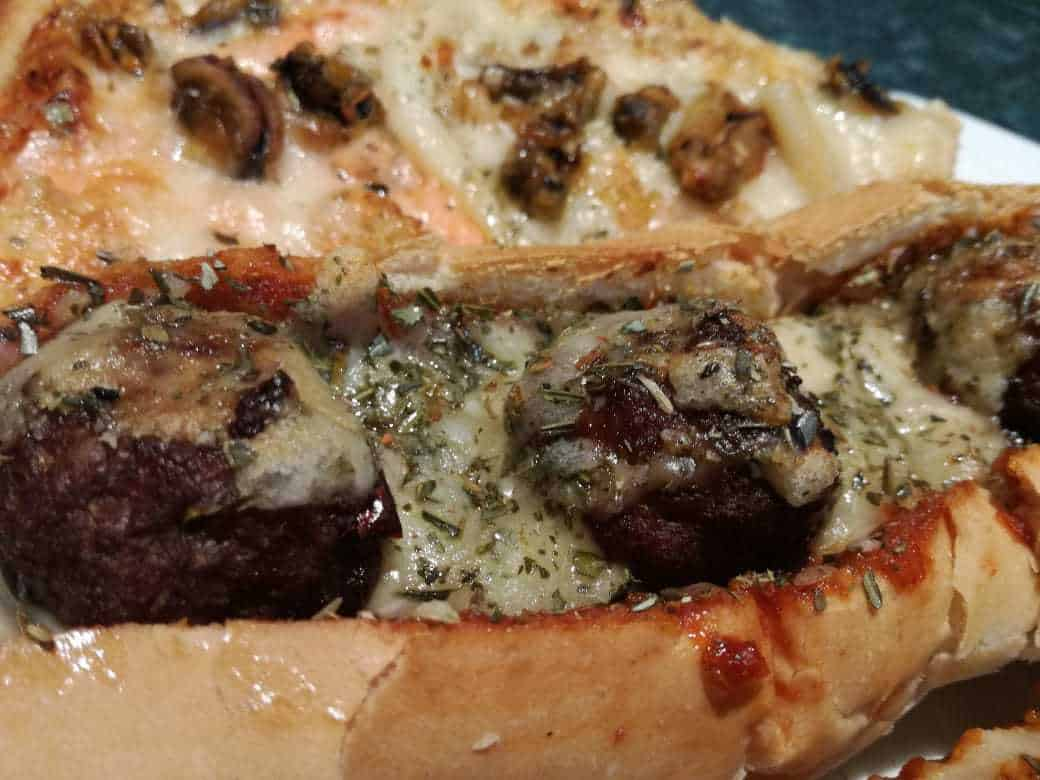 Latino Rib & Pine Pizza and Meatball Sub